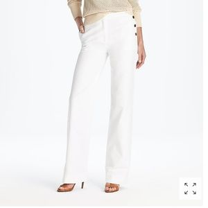 Fantastic J. Crew COLLECTION White Marina Trouser